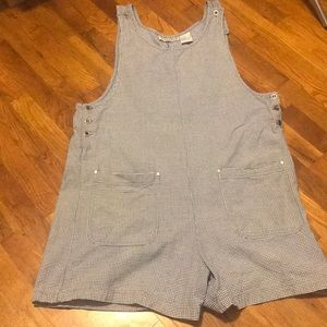 Plaid overalls